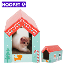 Hoopet Pet Cat Multifunction Scratching Cardboard Collapsible House Corrugated Paper Cat Kitten Furniture Scratcher with Catnip