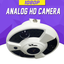 AHD Camera 1080P SONY CMOS 1.7mm Fisheye Lens 2.0 Megapixel Full HD 15m Night Vision HD CVI HD TVI 4 in 1 Clock Camera AHD(China)