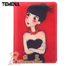 Women Simple Travel ID&Document Holder Utility Pu Leather Passport Cover Bierta Del Pasaporte APH105A(China)