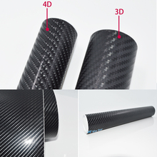 300cmX50cm 4D Carbon Fiber Vinyl Film Car Accessories Motorcycle Carbon Fibre Car Wrap Sheet Roll Film Sticker Decal Car Styling
