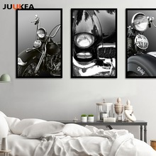 Retro Classic Car Motorcycle Old American Cars Canvas Art Print Painting Poster, Wall Picture For Living Room, Home Decor(China)