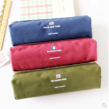 brand new premium multifunction canvas pencil case high quality large capacity fashionable pencil bag hot sale Deli 3080