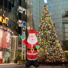1.8m Inflatable Waving Hand Father Christmas Inflatable Santa Claus Cute Xmas Decoration 5.9ft Outdoor Inflatable Statues(China)