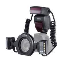 YONGNUO YN24EX E-TTL Macro Flash Light Speedlite 5600K with 2*Flash Head and 4*Adapter Rings for Canon EOS 1Dx 5D3 6D 7D 70D 80D