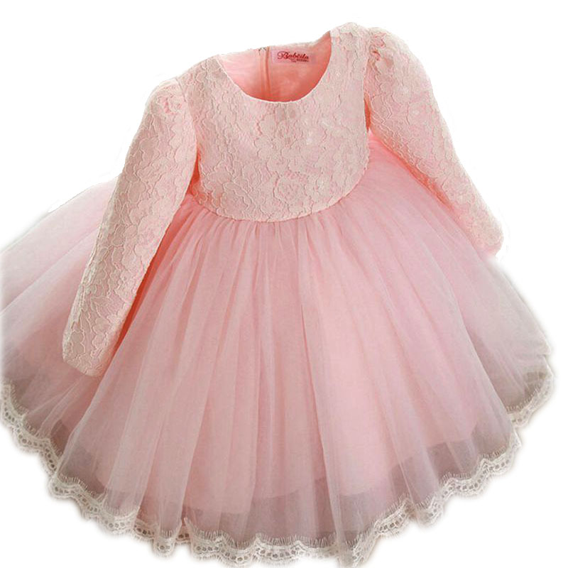 2016 New summer and autumn  Princess Girls Party Dresses for party baby fashion Pink Tutu dress Girls Wedding Dress kids dress<br><br>Aliexpress