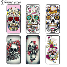Flowers Crystal Skull Head hard plastic phone Case cover for Samsung Galaxy A3 A5 A7 J1 J5 J7 2015 2016(China)