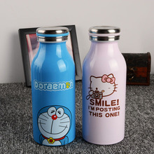 Creative Cartoon Vacuum Water Bottle Thermos Mug Doraemon Hello Kitty Stainless Steel Novelty Cup Sports Portable Cute Thermos