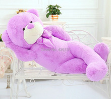 Wholesale  Teddy Bear plush toy  120cm  birthday Valentine's Day gift  Purple Factory outlets plush toy doll  woman Lavender