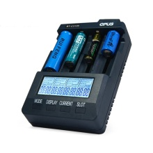 Original Opus BT-C3100 V2.2 Digital Intelligent 4 Slots LCD Battery Charger LCD Screen LI-ion NiCd NiMh Battery Chargers