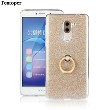 Buy Bling Silicone Case Huawei Honor 6X Coque Luxury Glitter Soft TPU Back Cover+Metal Ring Holder Huawei Honor 6X Phone Case for $2.68 in AliExpress store