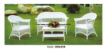 Elegant White Rattan Chair Table Sofa Set Garden Park Cafe Furniture Hot Sale Outdoor Furniture Sofa Healthy PE Vine Furniture