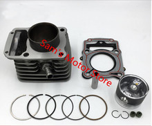 63.5MM 197CM3 LIFAN LF CG200 Motorcycle Cylinder Kits With Piston And 15MM Pin