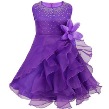 8 Flower Girl Dresses For Wedding Pageant Prom Party Purple Dress Baby Kids Clothes Little Toddler Children Bridesmaid Cloth
