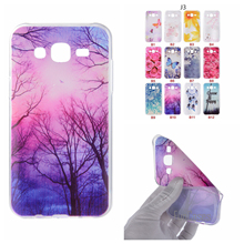 Cartoon Butterfly Bear Tree Painted Back Cover Silicon Gel Soft TPU Mobile Phone Case For Samsung Galaxy J3 coque J300 celulars