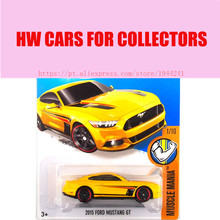 2015r Hot Wheels 1:64 ford mustang Gt cool race cars Models Metal Diecast Car Collection Kids Toys Vehicle For Children(China)