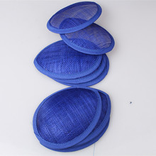 15 color royal blue 13CM teardrop sinamay fascinator base DIY millinery base cocktail hats material party hair accessories