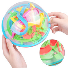 3D Magical Intellect Ball Educational Toy 20cm D Large Spherical Maze Ball Puzzle Balance Game Ball 138 Challenge Barriers