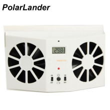 2W Solar Sun Power Car Auto Air Vent Cool Fan Portable Cooler Radiato with Display Ventilation System