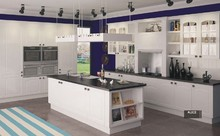 White color PVC coated kitchen cabinet K011
