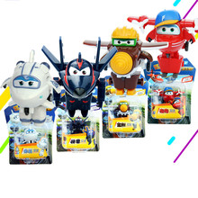 4pcs /Set Season 3 Super Wings Mini Airplane Robot baby toy Action Figures Super Wing Transformation Animation for Children Gif(China)