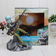 Sword Art Online GGO Asada Shino PVC Figure Toy Collection Model Doll With Box 23cm(China)