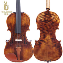 High Grade FineLegend 4/4 Full size Handmade Professional Violin Alcoholic Paint Solid Spruce Flamed Maple with Bow Case LCV3111
