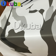 Black White Matte Finished Camouflage Vinyl Car Wrap For Full Car Body Color Change Camo Film Sticker Cover Styling