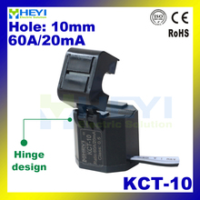 New Hinge Designed split core ct KCT-10 open type current transformer 60A/20mA Class 0.5 with 1m wire current transformers