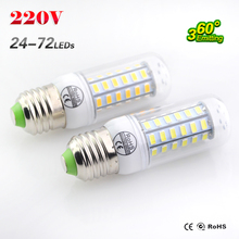 1Pcs SMD 5730 E27 LED lamp AC 220V Ultra Bright 5730SMD LED Corn Bulb light Chandelier 24LED 36LED 48LED 56LED 69Led 72Led