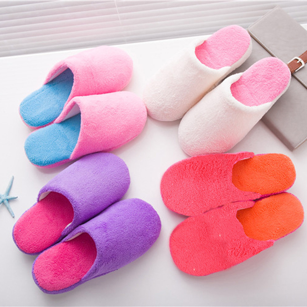 New Winter Women Warm Soft Plush Antiskid Indoor Couple Home Plush Slippers Indoor Shoes House Casual High Quality<br><br>Aliexpress