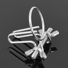Buy New style stainless steel urethral dilators penis plug cock ring insert rod male masturbator men chastity sex toys urethra sound