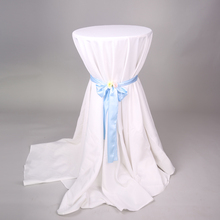 5pcs Wedding Round White Table Cloths Polyester Hotel Tablecloths Party cocktail Table Cloth  Plain Dining Table Linen 110inch