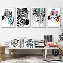 Modern Zebra Canvas Painting Animals Posters Prints Nordic Decoration Wall Art Pictures Office Living Room Home Decor Unframed