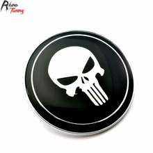 Rhino Tuning 1PC 82mm The Punisher Car Front Hood Emblem Black Skull Badge Auto Badge # 51 148 132 375 For E36 E46 E30 E91 410(China)