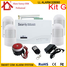 Two Antennas Wireless/Wired Home Burglar Alarm GSM Voice Alarm System 900/1800/1900MHz(China)