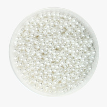 Hot Fashion 4mm Dia. 29g(approx 1000pcs) Round Pearl Imitation Plastic Acrylic ABS Pearl Beads White for DIY Jewelry Necklace