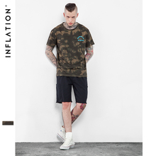 INFLATION 2017 Latest t shirts Letter Printed T shirts Urban Streetwear T shirts Camouflage T shirt men