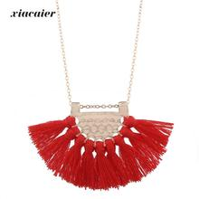 Buy Xiacaier Charms Pendant Necklaces Women Tassel Necklaces Boho Jewelry Collier Femme Bohemia Necklace Gold Color Chain Bijoux for $4.40 in AliExpress store