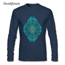 Custom Made Man Plus Size Tshirts Men Green Street Full Cotton High Quality Tshirt O Neck Long Sleeve T-shirt For Adult XS-XXL