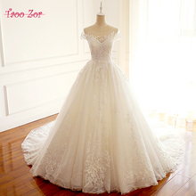 Buy Taoo Zor New Design A-line Wedding Dress 2018 Backless Vestido de Noiva Delicate Lace Short Sleeve Bride Dresses robe de mariage for $253.88 in AliExpress store
