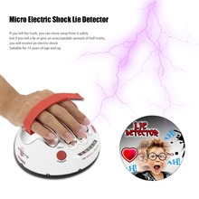 OCDAY Polygraph Shocking Liar Micro Electric Shock Lie Detector Truth Game Toy High/low Shock Setting LED's New Sale