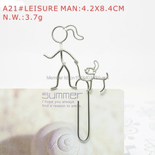 A21 LEISURE PAPER/NOTE CLIP PRACTICAL/NOVELTY/CREATIVE STAINLESS HAND-MADE ART CRAFTS WEDDING&BIRTHDAY&HOME&OFFICE&GIFT&PRESENT(China)