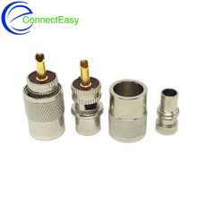 10Pcs UHF PL-259 Male Solder RF Connector Plug For RG8 Coaxial Cable Adapter Gold Pin