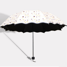 Creative floral umbrella Three folding sunscreen Ultraviolet ray proof sun shading umbrella Outdoor sun umbrella(China)
