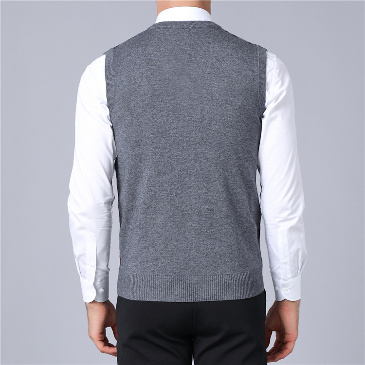 UNIVOS KUNI 2019 Autumn New Fashion Casual Slim Men Sweaters Vest Plaid  Men\u0027s Sweaters Pullover Vest свитер Plus Size 4XL J308