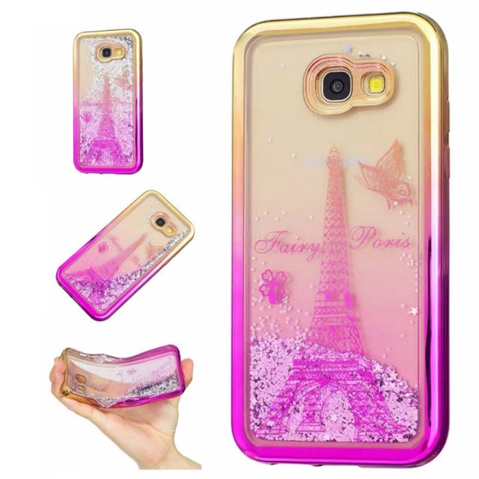 Samsung Galaxy A3 A5 2017 Cace Bling Liquid Glitter Star Quicksand Clear Case Galaxy J3 J5 2016 Luxury plating cover