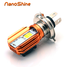 Nanoshine 2017 Newest Motorcycle Headlight Bulb H4 Led 20W 2000LM COB  Scooter Accessoire Motor Light Headlamp DRL Lights