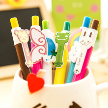 Kawaii Cartoon Plastic Ballpoint Pens Cute Lovely Cat Bird Ball Pen School Supplies Korean Stationery Free shipping 401(China)
