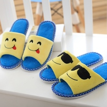 emoji smiley slippers, toe slippers couple models, fish head floor mop, cartoon slippers,women slippers, free shipping!