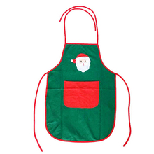 New Year Non-woven Santa Claus Apron Free Size for Birthday / Christmas Day (Green)